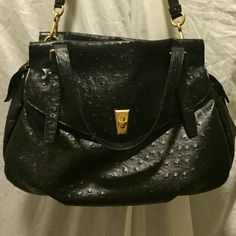 "Selling this ""Black Ostrich Leather Marc by Marc Jacobs Handbag"" in my Poshmark closet! My username is: mkgruber84. #shopmycloset #poshmark #fashion #shopping #style #forsale #Marc by Marc Jacobs #Handbags"