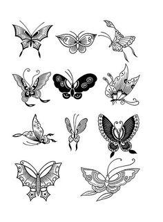 рисунки хной для начинающих насекомые
