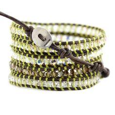 Wrap Bracelets > Luminous Green Crystal Mix - Chan Luu