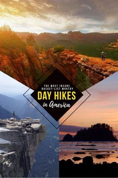 Looking to get outside and explore America? Add these insane hikes to your bucket list if you're looking for serious nature porn and views hiking quotes adventure, hiking snacks backpacking food, socal hiking Destination Voyage, New York, Best Hikes, Roadtrip, United States Travel, Day Hike, Images Gif, Outdoor Travel, Outdoor Gear