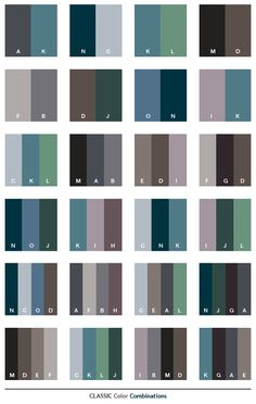 color combinations for graphic design | Classic color schemes, color combinations, color palettes for print ...