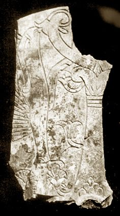 This ivory carved with a tree of life was found in the layer of flood detritus. Its style is Syriac, with flowering branches, and a creature which the archaeologist describes as a griffin, but looks like a dolphin or fish.    The tree has a Canaanite capital that grew out of tree-of-life symbolism, and inspired the Ionian column in Greek architecture --the style used in the Artemision at Ephesus. Egyptian influence can be seen in the lotus pattern at the base of the capital, while the…