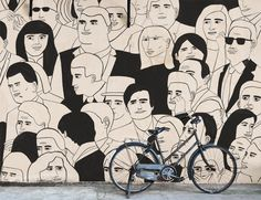 Portrait mural by Todd Burka