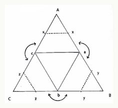 fabric art pyramid template