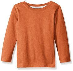 French Toast Boys' Long Sleeve Single Dye Crew Neck Tee * Check this awesome image @