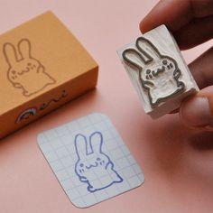 Happy Bunny stamp by memi the rainbow