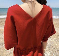 26b2b1fe24d414 Red Linen wrap dress   Linen tunic wrap dress   romantic linen dress    summer maxi dress   Linen max
