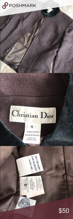 Christian Dior blazer Fits any where from a xs-m depending on how you like ur blazer fitted or not. Great condition. 👌🏼💞 Christian Dior Jackets & Coats Blazers