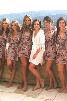 silk robes for bridesmaids