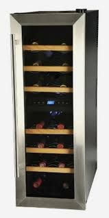 KALORIK - 21 Bottle Wine Bar Dual Zones Stainless Steel Finish Door - The digital control with LCD display make it easy to set just the right temperature. It has a 21 bottle capacity and features dual zones for white and red wines. Bar A Vin, Thermoelectric Cooling, Wine Chiller, Wine Cellars, Cool Store, Types Of Wine, Stainless Steel Doors, Wine Deals, Wine Fridge