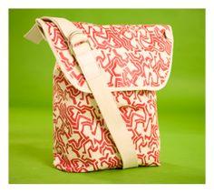 Printed Messenger Bag by ADAMGEFEN on Etsy, $45.00