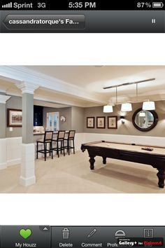 Basement colors Paint colors from Chip It! by Sherwin-Williams. Like this color combo. possible basement colors Style At Home, Home Studio, Basement Renovations, Home Remodeling, Remodeling Contractors, Bathroom Remodeling, Basement Colors, Basement Ideas, Basement Designs