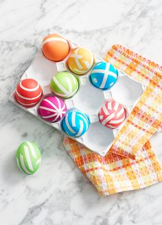 The kids have spent all morning creating brightly colored and striped Easter eggs, now make sure you have the right plate to display them. This ceramic egg crate from Food Network is just the ticket! Get set for Easter at Kohl's.