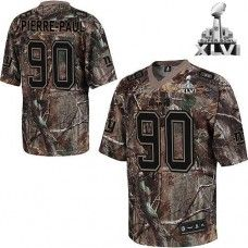 Giants  90 Pierre-Paul Camouflage Realtree Collection Super Bowl XLVI  Stitched NFL Jersey Super c5dbd6352