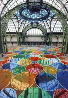 """Monumenta 2012 - Installation by Daniel Buren in """"Le Grand Palais"""" - Paris."""