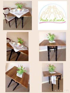Victorian plank top table find me at www.facebook.com/madeinlincoln #victorian #teaparty #traditional #reloved #kitchen