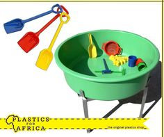 At #PlasticsforAfrica, we stock a wide selection of toys for children of all ages, such as these spades, available in various colours & sizes and the sand/water play tables and basins. Visit your nearest branch today. #Toys