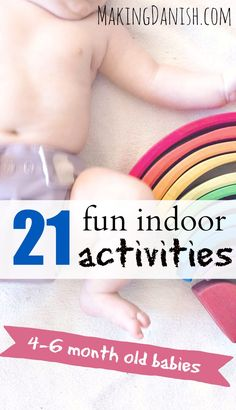 21 fun indoor activities for your month old baby – Baby Development Tips 6 Months Old Activities, 4 Month Old Baby Activities, Fun Indoor Activities, Infant Activities, 6 Month Old Toys, 5 Month Old Baby, 6 Month Olds, Cool Baby Stuff, Alter