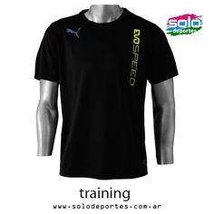 Remera EvoSpeed Training Negro/Lima/Turquesa  Marca: Puma 640020653756036   $ 305,00 (U$S 52,12)