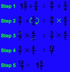 How to Divide Fractions in Five Easy Steps Dividing Fractions, Math Fractions, Equivalent Fractions, Math Activities, Fraction Activities, Math Games, Math Charts, Math Graphic Organizers, Math Formulas