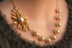 Necklace Jewelry Items similar to Pearl Leaf Necklace Gold Bridal Jewelry Gold Wedding Jewelry Bridesmaids Necklace Pearl Necklace, Vintage Jewelry on Etsy - Gold Wedding Jewelry, Bridal Jewelry, Gold Jewelry, Vintage Jewelry, Quartz Jewelry, Jewelry Necklaces, Jewelry Sets, Quartz Ring, Jewelry Stand