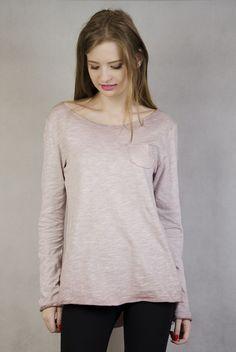 Różowa bluzka z kieszonką