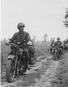 1944 infantry BSA M20-15th Scottish Division