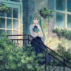 "Miku isn't cute at all. And I ""seriously"" dislike her. Kawaii Anime Girl, Anime Art Girl, Manga Art, Anime Girls, Anime Chibi, Manga Anime, Anime Blue Hair, Vocaloid Characters, Susanoo"