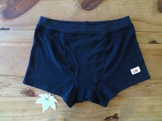 Black Organic Cotton & Hemp Boxer Briefs Men's by iLoveBadOrganics