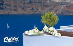 Casual high quality canvas shoes with famous destinations from around the world. Greece, Scenery, Around The Worlds, Slip On, Crown, Sneakers, Casual, Stuff To Buy, Shoes