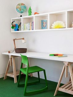Home Office Infantil coin bureau enfant, du vert, pourquoi pas
