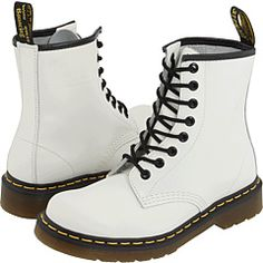 Martens 1460 Lace-up Boots White Smooth Dr. Martens 1460 Lace-up Boots White SmoothDr. Martens 1460 Lace-up Boots White Smooth White Lace Up Boots, White Leather Boots, Metallic Boots, Lace Up Combat Boots, Yellow Boots, Leather Booties, Yellow Leather, Leather Shoes, Dr. Martens