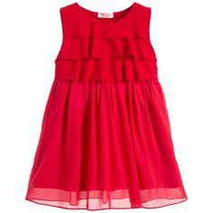 Malvi & Co Red Layered Jersey Dress with Voile Skirt  at Childrensalon.com