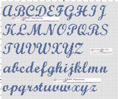 amorevitacrocette: various cross-stitch alphabets - amorevitacrocette: various cross-stitch alphabets - Cross Stitch Letter Patterns, Monogram Cross Stitch, Cross Stitch Bookmarks, Beaded Cross Stitch, Cross Stitch Embroidery, Crochet Cross, Embroidery Alphabet, Hand Embroidery Patterns, Crochet Letters