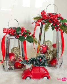 Christmas Home, Christmas Wreaths, Christmas Decorations, Table Decorations, Christmas Ornaments, Holiday Decor, Xmas Crafts, Diy And Crafts, Lanterns