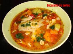 Supa de pui cu taitei si rosii - Bucataria cu noroc Noroc, Thai Red Curry, Ethnic Recipes