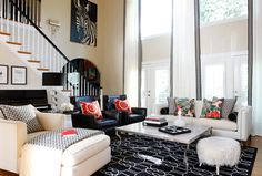 Geometric Print Red Orange Design Ideas, Pictures, Remodel, and Decor - page 75