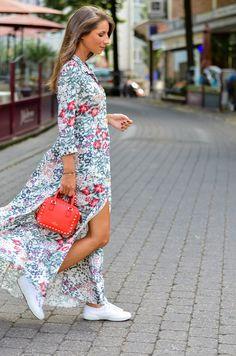 Outfit :: Zara Maxi Dress & Superga Sneakers