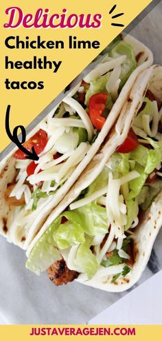Easy Slimming World tacos recipe for all the family Slimming World Chicken Dishes, Slimming World Recipes, Recipe Using Tortillas, Lime Chicken Tacos, Taco Mix, Healthy Tacos, Salsa Recipe, Yum Yum Chicken, Perfect Food