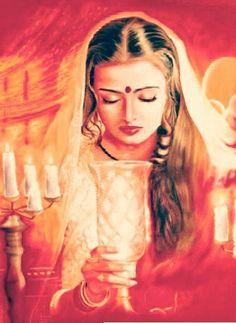 Aishwaria rai painting from Devdas