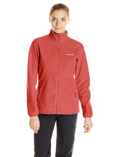 e795a0354cf2 Columbia Womens Wind Protector Fleece Jacket Red Hibiscus Small   Want  additional info  Click on