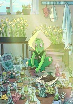 Peridot chidas plantas plants Steven Universe fan art gorgeous crystal gems