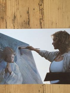 Nancy painting PORTRAIT OF ANGEL IN WHITE. #throwback