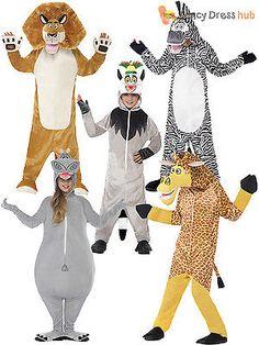 Childrens Lion Set Fancy Dress Book Week Day Dress Up Accessory Kids