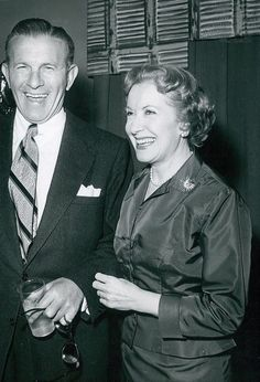 George Burns & Gracie Allen, having a good time.