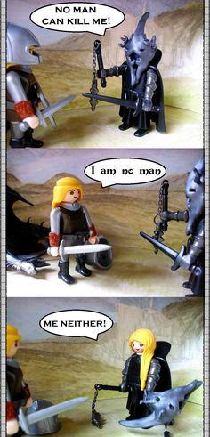 Eowyn trifft auf den Hexenkönig... mal etwas anders. Playmobil