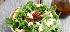 Meatless Monday: Arugula Salad with Maple Balsamic Vinaigrette