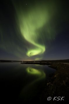 Northern lights, Aurora borealis...  Kjosarsysla, Iceland.