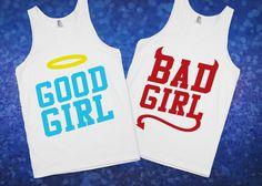 Good Girl & Bad Girl Best Friend Shirts   Skreened.com