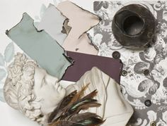 Salvage: A fragile, crumbling look of the past Use a sophisticated palette of strong colours lifted by lighter tones to create a moody, vintage feel. Try chalky pinks such as Middleton Pink No.245 and Cinder Rose No.246, teamed with Teresa's Green® No.236 and accented with Mahogany No.36. Emphasise this tarnished look with traditional finishes such as Dead Flat and Distempers.